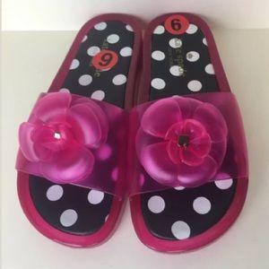 Kate Spade Splash Jelly Flip Flop Sandal Polka Dot